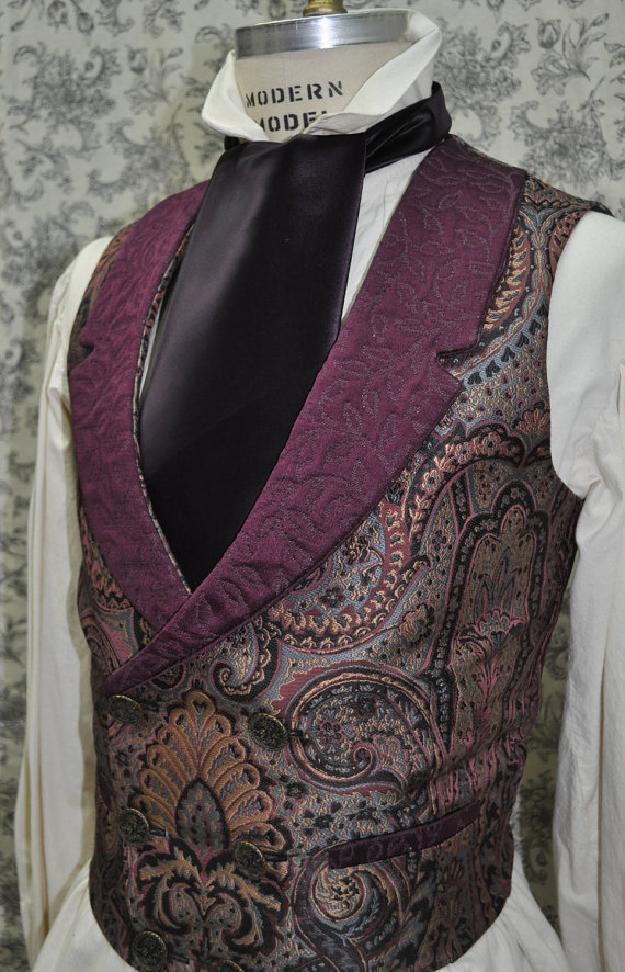 steampunkonda:  Mens Vest— Victorian—Steampunk—-Sherlock Holmes Style—-Custom—Made to Order—Made to Personal Measurements by OnceUponABustle