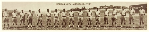 1924 Kansas City Monarchs Team Panoramic Check out some history about this renowned Negro League team here: Kansas City Monarchs History