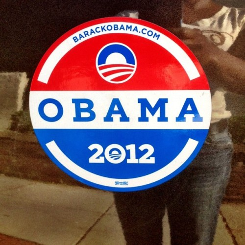 VOTE President @barackobama 2012 #iphoneography #dmv  (Taken with Instagram at Obama & Biden 2012)