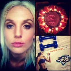 Best boyfriend ever #birthday #selfie #selfies #me #moi #cake #candles #chocolate #present #presents #blonde #platinumblonde #makeup #drinks #celebrations  (Taken with Instagram)