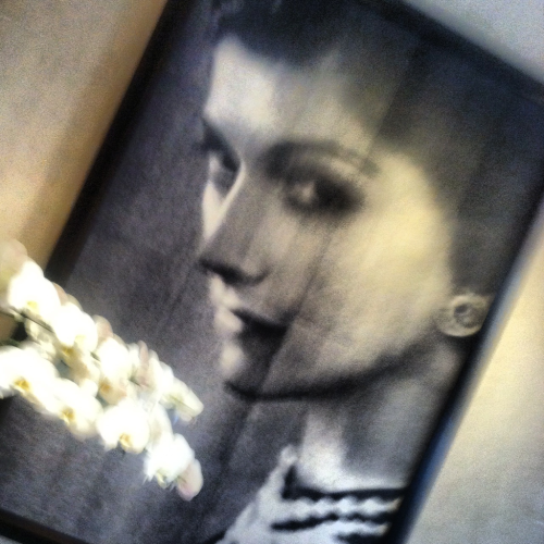 A photo at the entrance of coco chanel's apt in Paris