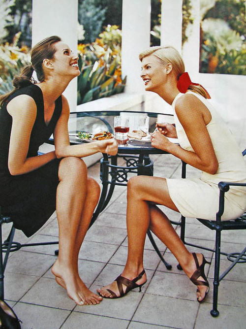 "lalinda-evangelista:  HARPER'S BAZAAR USA may 1995""L.A. AFTERNOON""ph. by Patrick Demarchelier"