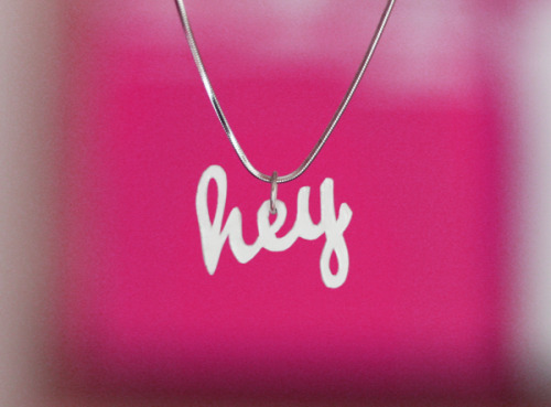 DIY shrink plastic typography pendants | How About Orange This'd be a great gift for a Pixies fan.