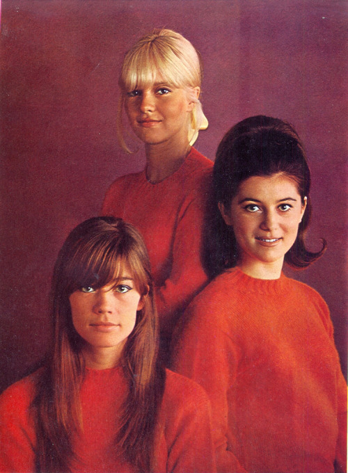 theswinginsixties:  Ye Ye girls - Francoise Hardy, Sylvie Vartan, and Sheila, 1967.