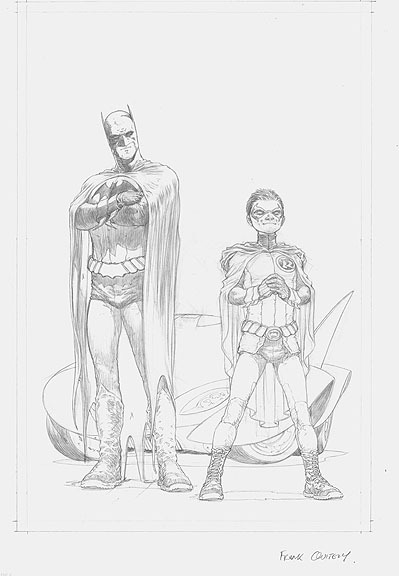 Frank Quitely Batman and Robin Issue #1 - Original Art Cover