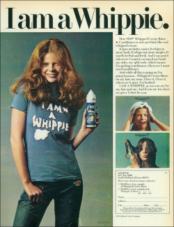 superseventies:  'I Am a Whippie' T-Shirt offer, 1974.