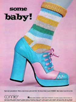 "superseventies:  ""Some Baby!"" platform shoes, 1973."