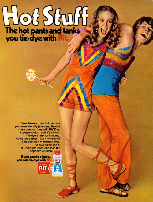Tie-Dye with Rit, 1971 advertisement.