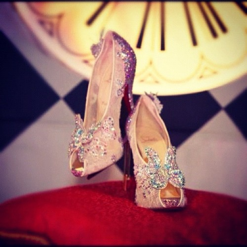 Christian Louboutin Master Piece. #cinderellaslipper #louboutins 😍 makes me wanna believe in fairytales💗 (Taken with Instagram)