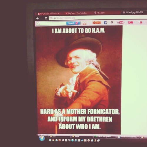 #kanye #west #meme #4chan #ham #internet #joke (Taken with Instagram at Aguilar Gardens)
