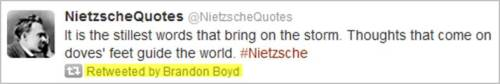 I mean, really. You have to love a rock star who quotes Nietzsche, don't you?