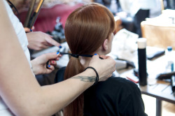 University of Brighton, Graduate Fashion Show  Backstage: Hair and Makeup Candid Arts 14th June 2012