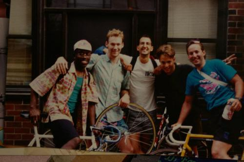 The NYC cycling community took a big hit yesterday, loosing one of our own to brain cancer. David Jordan(second from left in the photo) has been a part of bike racing in this town as long as I've been alive and I'm saddened that I wont get a chance to know him better.