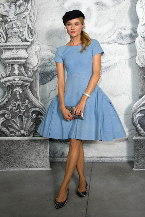 BeLighter Diane Kruger, Paris Wearing: Dress: Chanel Resort 2013 Collection