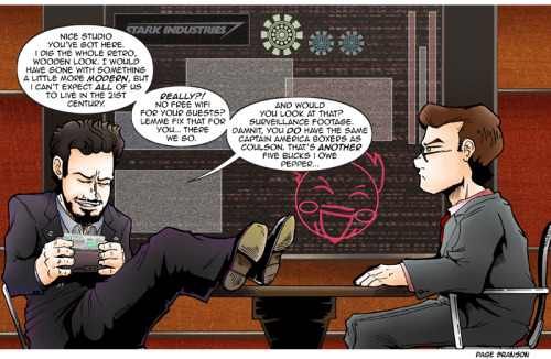 Five of Eight TCR/TDS Avengers Comics: Tony Stark  Tomorrow's Guest: Agent Phil Coulson
