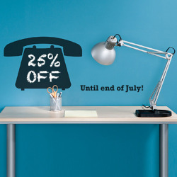 25% Off all of our blackboard decals until end of July!