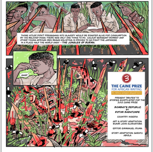 "futurejournalismproject:  Reporting on Africa Through Interactive Comics via Color Lines:  I ask Bunmi Oloruntoba why he works in comics; his answer speaks volumes. ""In many ways, the medium is like the African continent itself: it's misrepresented,"" he says. ""When it comes to the continent, you know, it's the conflict, it's war, it's the famine. And in comics, it's Spiderman, the Hulk, superheroes! One genre within the medium has grown so large that it eclipses the medium, and people can't see the potential. Just like it's hard to see the humanity, the complexity, the drive of all the things Africans are doing, because it's been eclipsed."" This eclipsing is what novelist Chimamanda Adichie has called the problem of the 'single story.' Oloruntoba, a Nigerian-born journalist and academic in Washington, D.C., is proposing a solution: collide Africa's single-story problem against comics' single-story problem, and see what interesting new particles appear. With literary editor Emmanuel Iduma, he runs 3Bute.com (pronounced tri-bute), adapting other writers' stories about Africa into three-page comics — and then wrapping those comics in a 'mashable' layer that lets any reader dot the panels with their own public annotations. Mouse over a drawing of a laptop surrounded by partiers, and you can watch a Youtube music video of the Hausa hit they might be dancing to; mouse over a drawing of Charles Chikwanje boldly refusing to reveal the name of his gay lover on Malawi television, and get a recommendation for a biography of Bayard Rustin. It's new-media innovation, historical context, Wikipedia rabbithole, and sometimes even loyal dissent, side by side. And all of it is a living antithesis to the single story.  FJP: What's really neat is that 3Bute uses what they call a mash-up platform that lets writers and artists collaborate on the 3 page visualizations. Each works like a pinboard where readers can tag a story with relevant context. Visit the site and check it out. Image: 3bute.com collaborated with the Caine Prize, Africa's leading literary prize, to adapt all the stories shortlisted into comics. Above is a screenshot from Bombay's Republic by Rotimi Babatunde.  This relates to our previous post on the state of editorial cartooning in Canada and the US, specifically about what was said regarding ""journalistic cartooning"" in other parts of the world (I'm paraphrasing)."