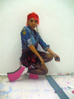Online celebrity / comedian, Inah evans, wears my Pink Parade shoes (which is up until now lost)