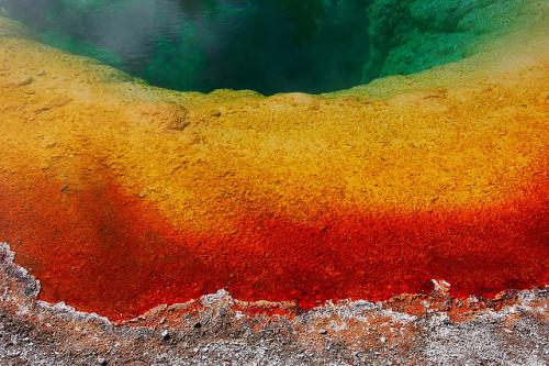Hot Spring Topography III by Fort Photo on Flickr.West Thumb, Wyoming, US.