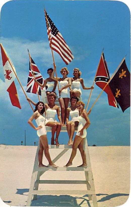 FIESTA OF FIVE FLAGS  Held each year at PENSACOLA BEACH, FLORIDA  What did they do with the lifeguard?