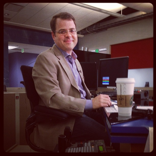 Getting ready for Squawkbox.  (Taken with Instagram at KNTV NBC Bay Area)