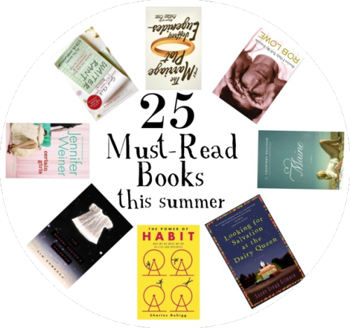 My top 25 book recommendations for summer!  What books do you recommend to read this summer?  PS. Next week we have an awesome blog post chock-full of our blogger friends' book suggestions!  PPS. If you have a blog and would like to participate, just let me know your book recommendations and I'll link ya up next week! (via Lovely At Your Side: 25 Book Recommendations For Summertime Reading!)