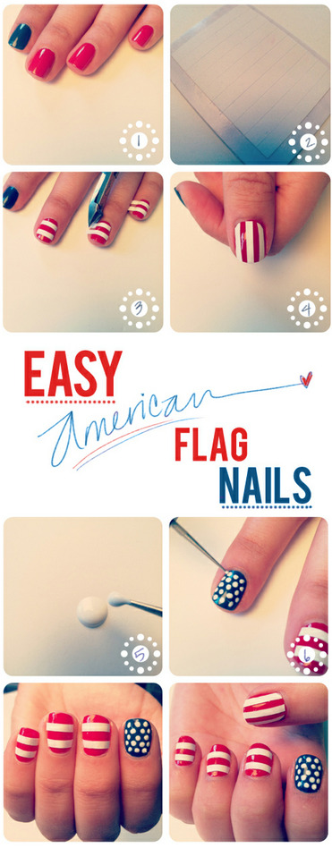 modcloth:  I know it's a bit late, but I love these flag nails from The Beauty Deparment. It's a great look for any day of the year! How did you spend the fourth? (via The Beauty Deparment)  <3 Sonal, ModStylist Need styling suggestions, trend tips, or dress details? Ask a ModStylist and your question might be featured on our feed!