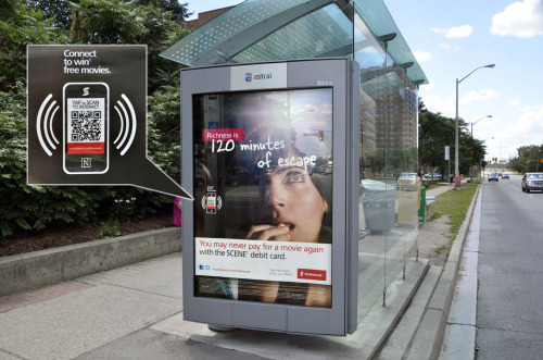 Scotiabank NFC campaign on the Astral TSA network