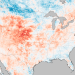 "mohandasgandhi:   [This map shows the heat wave currently sweeping across the United States with temperatures taken by a NASA satellite on June 26, 2012]   June Heatwave Broke 3,215 Temperature Records    A scorching heat wave has fueled a rare derecho leaving millions without power, destructive wildfires, and thousands of record-setting temperatures. The National Oceanic and Atmospheric Administration reports 3,215 temperature records set or matched in June, with more than 2,100 of those records occurring in one week, between June 25 to July 1. Five states saw more than 100 high temperatures broken: Texas (237 records), Colorado (226), Kansas (164), Missouri (126), and Arkansas (115). With no end in sight to the record heat, the media are now finally connecting the dots between global warming and these rare events, reporting ""This is what global warming looks like at the regional or personal level.""    Remember that this is the new norm. Long gone is the time that we had to worry about the future effects of climate change. They're already here. We're living it."