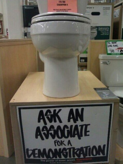 collegehumor:  Toilet Demonstration Finally, some answers. Maybe I can stop crapping in my pants now.