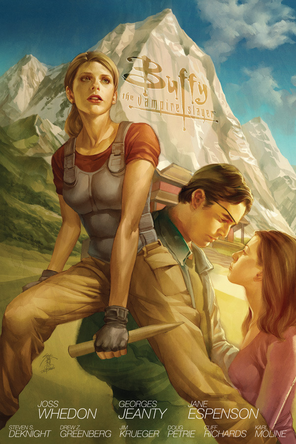 whedonesqued:  Cover art for Buffy Season 8 Library Edition Volume 3   IS THAT DAWN AND XANDER MAKING GOOGLY EYES?! Eww.