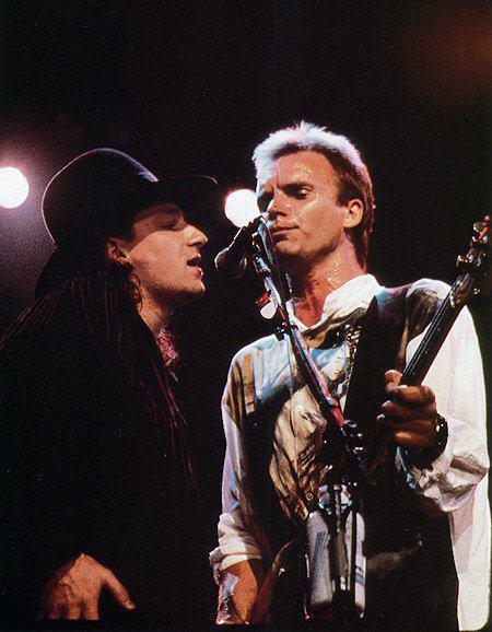 allu2allthetime:  Bono & Sting Conspiracy of Hope Tour 1986