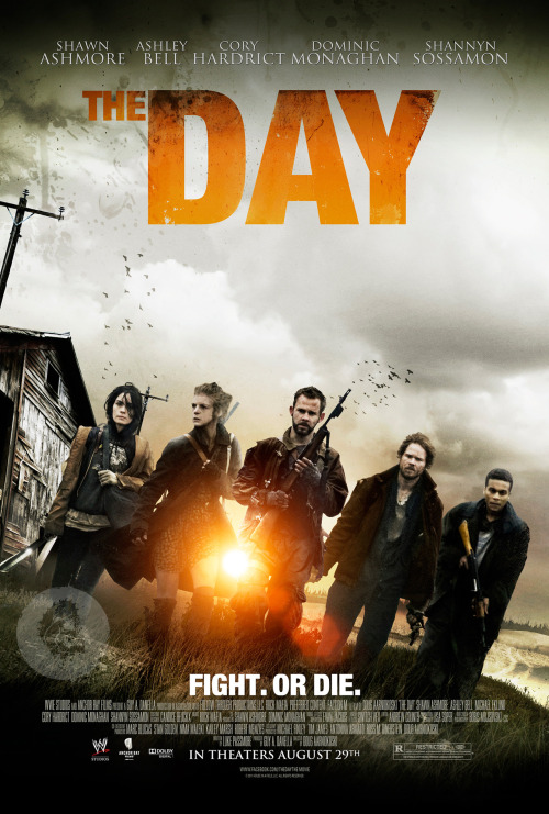 fuckyeahlost:  The Day - watch the teaser trailer here. Set in a post-apocalyptic future, five survivors wander along the back roads, trying to survive. Food and ammunition is dwindling and their attempt at seeking shelter leads them into a battleground where they must make a final stand. The film takes place over a nightmarish 24 hours. Shawn Ashmore, Ashley Bell, Michael Eklund, Cory Hardrict, Dominic Monaghan and Shannyn Sossamon star.