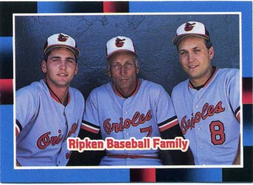 On July 11th 1987, Billy Ripken made his major league debut, joining his older brother Cal on the Baltimore Orioles. With their father Cal Sr. managing, it marked the first time a father had managed two sons on the same major league team.