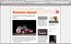 My latest series has been featured on the wonderful Feature Shoot, If you haven't been on  feature shoot before your missing out, fantastic work showcased daily … be sure to check it out!!! I'm stoked to have also been asked to guest blog in the near future, keep an eye out for more updates / posts soon!