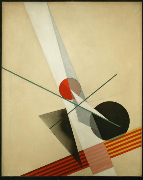 Abstract Painting, by Laszlo Moholy Nagy, 1925. Constructivism.