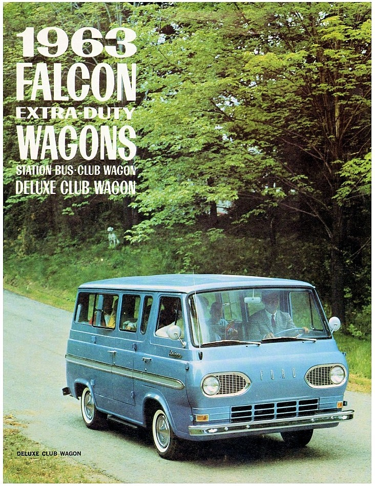 "Deluxe Club Wagon… 63 Ford ""Falcon"" Econoline brochure"