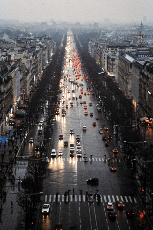 cognacandcoffee:  Where is this? Looks suspiciously like Paris, but then it resembles the Nevsky prospekt in St. Petersburg.