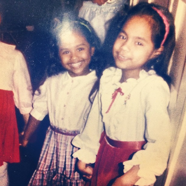 vashtie:  Me looking like a tiny nerd and my cousin @janellek77 (Taken with Instagram)