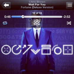 Listening to Chris Brown, hoping for some good #fortune today. #waitforyou / http://instagr.am/p/Mvxg7ftj_c/