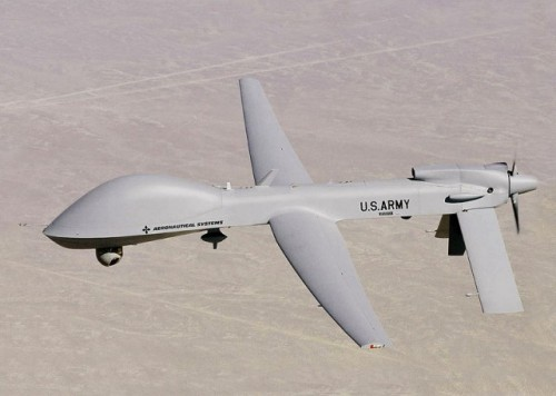 bylinebeat:  Here comes Skynet: Army drones almost ready to share sky with airlinesOn July 5, the US Army announced it had completed a two-week demonstration of a new ground-based sensor system for its MQ-1C Gray Eagle unmanned aerial system (UAS) that will allow UAS operators to detect and avoid other aircraft. The Army is now ready to begin the certification process with the Federal Aviation Administration to allow the Grey Eagle—formerly known as the Warrior—to fly unfettered in domestic airspace. The Army expects to start flying the UASs in domestic airspace for training by March of 2014.The $90 million Grey Eagle is a descendant of the Predator and manufactured by General Atomics. The aircraft is a medium-range multipurpose UAV that has seen duty in Afghanistan with the Army. In the demonstrations held at the Army's Dugway Proving Grounds in Utah, the MQ-1C was tested with the Ground Based Sense and Avoid (GBSAA) system, a ground-based radar that monitors the UAV and the aircraft around it.The GBSAA system will be deployed at five bases around the US where Gray Eagle squadrons will be home-based. Fort Hood, Texas will get the first installation, followed by Fort Riley, Kansas. Fort Stewart in Georgia, Fort Campbell in Kentucky, and Fort Bragg in North Carolina will get their GBSAA systems by 2015.Photo Credit: (arstechnica.com)