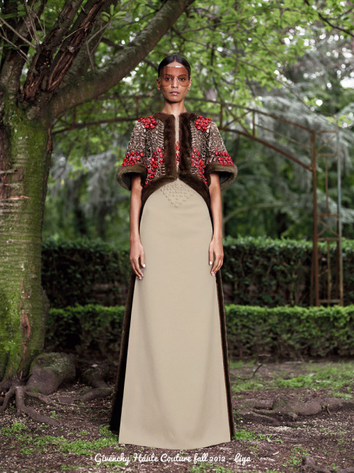I Was a Guy from Nowhere: Riccardo Tisci for Givenchy Haute Couture fall 2012 collection.