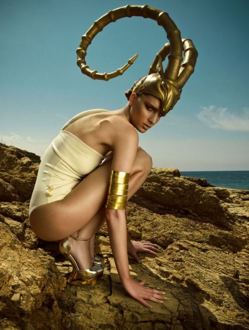 'Greek Pride' | Rosanna Georgiou By Thanasis Krikis For Vogue Hellas (Greece) | July 2012  https://twitter.com/SakshiBenipuri https://www.facebook.com/pages/RSVP/307689849282915