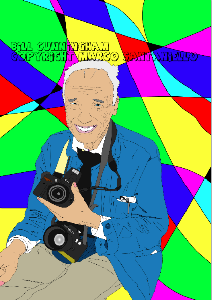 ‎Bill Cunningham New York Bill Cunningham Graphic arts by Marco Santaniello ♥ I met him the first time at the Patrick McDonald Fan Page exhibition at Dorian Grey Gallery NYC. He was super nice :) ♥ hugs I m sure I ll meet him again soon ♥ LIKE MY FACEBOOK PAGE :) https://www.facebook.com/SuperstarMarcoSantaniello follow me on tumblr and twitter :) @SUPERSTARMIX  <3  HAVE A NICE ONE KISSES  FROM TOKYO