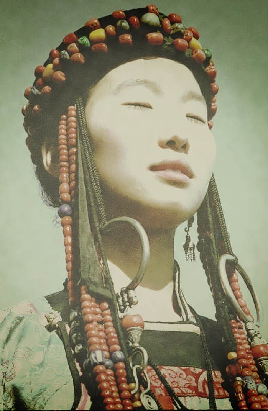elarogers:  Young Buryat Girl In Traditional Dress by BaikalNature on Flickr.