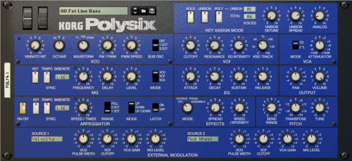 Oh, the temptation - a Korg Polysix Rack Extension for Propellerhead Reason 6.5. Real retro vibes (for which I'm a sucker).