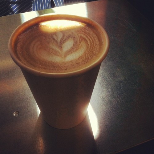 Good morning! #latte  (Taken with Instagram)