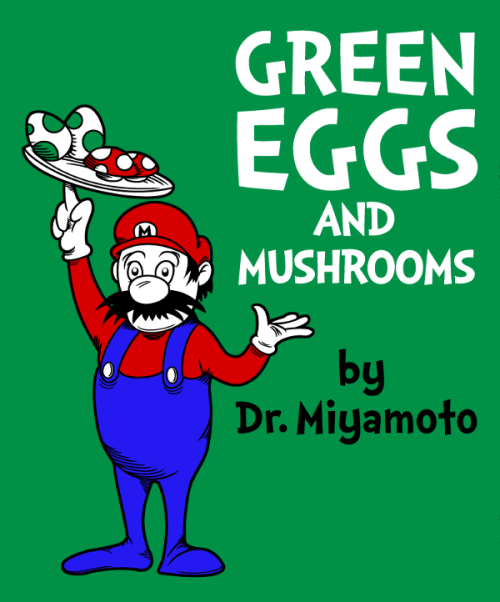 """Green Eggs and Mushrooms"" for sale on Redbubble and Society6 adho1982 - Twitter/ Tumblr/ Facebook"