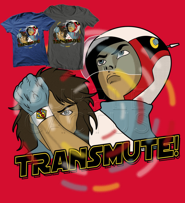 "purplecactus:  ""Transmute"" A Gatchaman tshirt from the Purple Cactus Awesome Emporium Get it for him or for her"