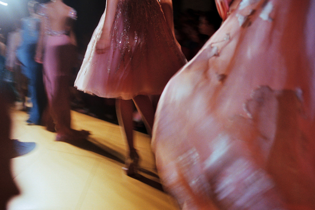tmagazine:  Couture dresses on the runway at Elie Saab.